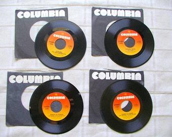 TOWER of Power. PHOEBE Snow. KOKOMO. 45 rpm. vinyl records. lot of 4. Columbia Record. Columbia Label. vintage 1970s. 1970s music. records