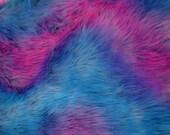Camo Mix Purple Blue Pink Faux Fur