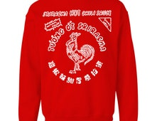 Sriracha Hot Chili Sauce Crew Neck Pullover Sweat Shirt