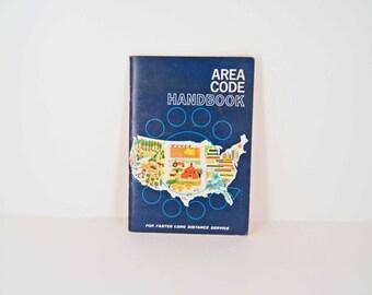 Vintage Area Code Handbook 1962