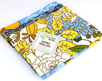Reusable Sandwich and Snack Sack Kit in Large Floral