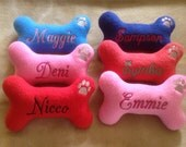 Personalized  Custom Dog Bone Shaped Dog Toy with Squeaker-Small