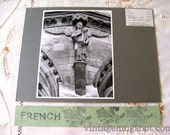 French REIMS  France Basilica of St. Rems  Cathedral Original ANGEL Photograph  Architectural Photo UC Berkeley