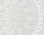 Crochet doily, lace doily, table decoration, crocheted place mat, centre piece, doily tablecloth, table runner, napkin, white