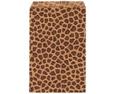 100 Pack Leopard Print Sack (6 x 9 in) // BOUTIQUE CHIC //
