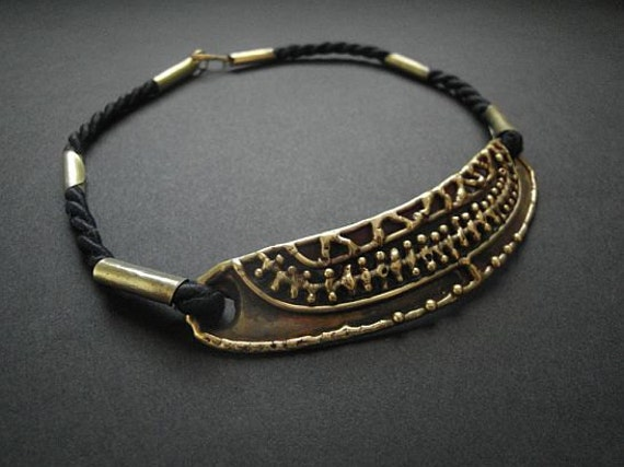 Luciano Vintage 70s Choker Mexican Brutalist Jewelry