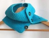 Cowl in Turquoise Aran Wool