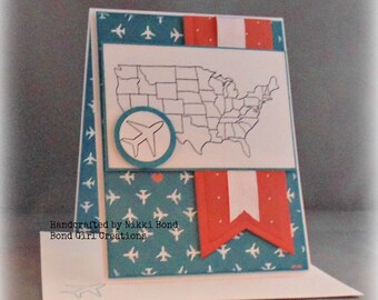 Any Occasion United States Map Handmade Card