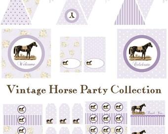Vintage Horse Birthday, Horse Baby Shower, Horse Birthday Decorations, Horse Baby Shower Decorations, Horse Party Decorations, BeeAndDaisy