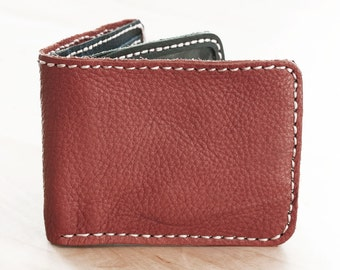 SALE, Brown Hand Stitched Leather Men Wallet