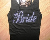 Bridesmaid half lace Tank Top: Bride. Wedding Party. Bridal Party tanks. Maid of honor. Overstock Sale. Plus Sizes. Large, 1x, 2x, 3x