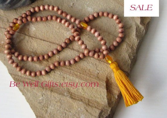 Sale 108 Bead Mala Meditation Necklace, Meditation Beads, Spiritual Gifts, Focus Jewelry