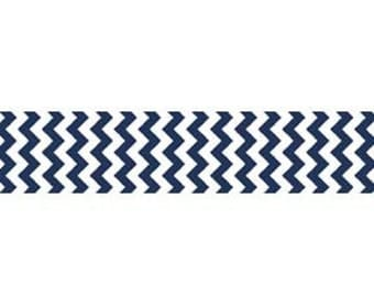 Riley Blake Chevron Ribbon in Navy
