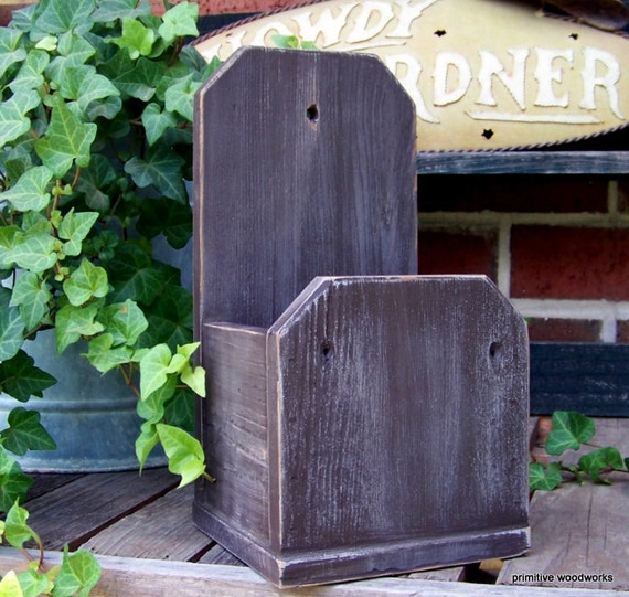 Reclaimed Home Decor: Wooden Wall Planter Box Reclaimed Wood Rustic Home Decor