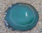 SALE Natural Blue Quartz Slab Slice Cut Stone -  Brazilin - Home Decor - Polished, Gorgeous Color
