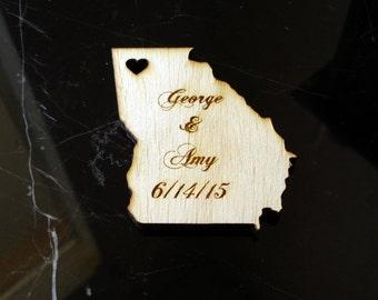 50 Georgia  Wedding Favors Custom Engraved