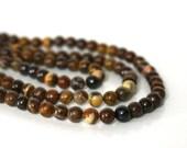 JUPITER JASPER beads 4mm round gemstone, full bead strand (672S)