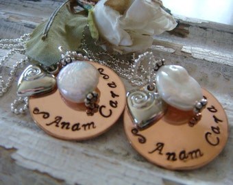 Anam Cara Best Friend Friendship Necklace set of  2 one to keep and one to give to your BFF