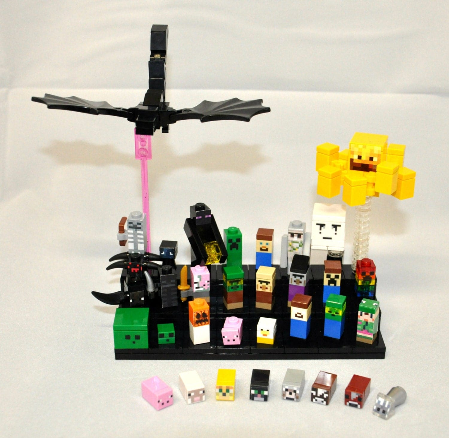 Minecraft Toys And Mini Figures For Kids : Minecraft inspired custom mini mob minifigures super lot