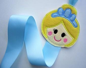 Princess Hair Clip Holder, Blue Dress Princess Hair Clip Organizer, Hair Accessories Organizer, Hair Clip Display