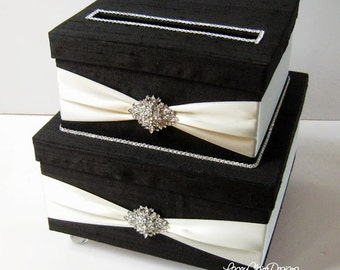 Wedding Card Box, Bling Card Box, Rhinestone Money Card Holder Custom Made