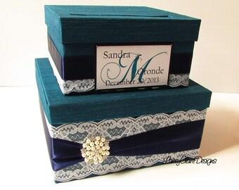 Wedding Card Box - Lace Card Box Couture Card Holder Custom Made