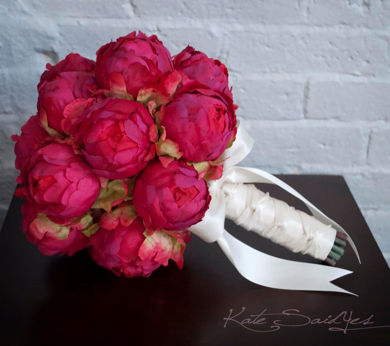 Fuchsia Peony Wedding Bouquet Fuchsia Pink Peony Bouquet