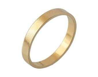 3mm wedding band simple wedding band yellow gold wedding band mens wedding bands