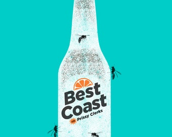 Best Coast Gig Poster - screen print