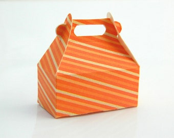 Jewelry Gift Wrap Box - Box for Rings - Orange, Papaya, Pink, Vanilla, Mini, Coral, Cream, Ivory, Beige, Lovely, Favor, Spring, Mini Box