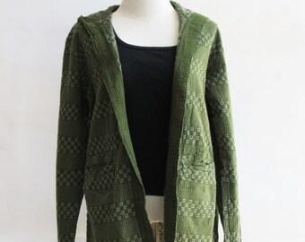 J2, Forest Comfort Hood Dark Green Cotton Jacket