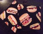 Hot dogs and hamburgers hot pad
