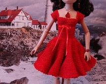 Party Dress with Purse and Hat Crochet Pattern For Ellowyne Fits Antionette Digital Download by djemorin