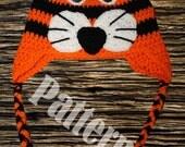 INSTANT DOWNLOAD Tiger Hat Crochet PATTERN