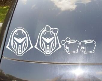 Cylon Family Car Sticker set of 4