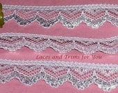 Silver Lace Trim 12 Yards Scalloped 3/4 inch wide Lot M54 Added Items Ship No Charge
