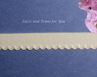 Cream Fabric Trim 10/20 Yards Woven Picot 1/2 inch wide Lace M109 Added Items Ship No Charge