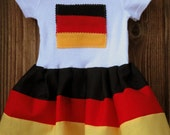 READY TO SHIP 0-3 Month German Flag dress (baby German dress)