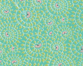 Chantilly - Garden Spiral in Brook by Lauren + Jessi Jung for Moda Fabrics - Last Yard