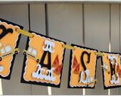 Handmade Banner - Custom made - GO GREEN - Name Banner Happy Birthday Baby Shower New York City Party