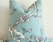 Smokey Blue Bird Pillow Cover