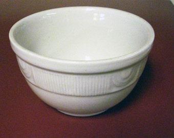 Vintage White Hall Pottery Bowl