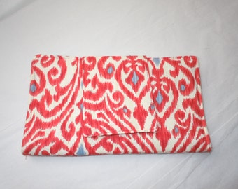 Wallet Ikat Red and White