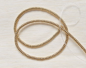 4.25mm gold plated  brass rondelle spacer beads, gold plated brass rondelle