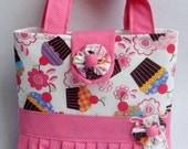 Girls Tote Bag Cupcake Meadley Ruffled