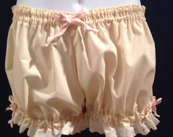Size XL Plus Size Womens Bloomers, Pajama Bottoms Natural Colored Cotton