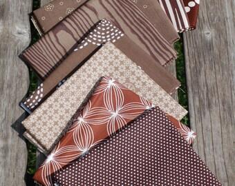 BROWN-Color STASH BUILDER Bundle- Fat Quarter Bundle