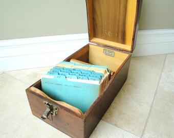 Wooden File Box Globe Wernicke 7310 C