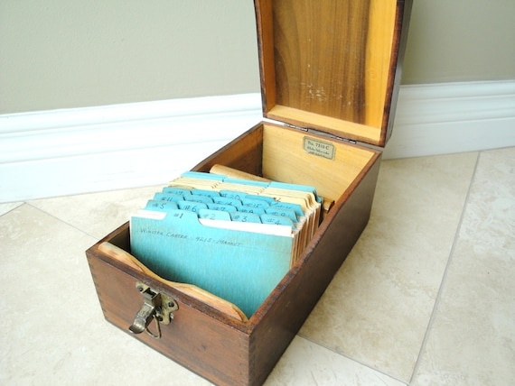 Wooden File Box Globe Wernicke 7310 C