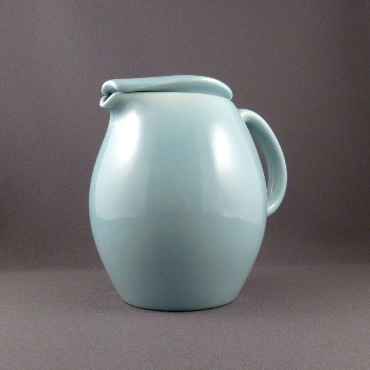 Russel wright iroquois casual covered pitcher in ice blue - Russel wright pitcher ...